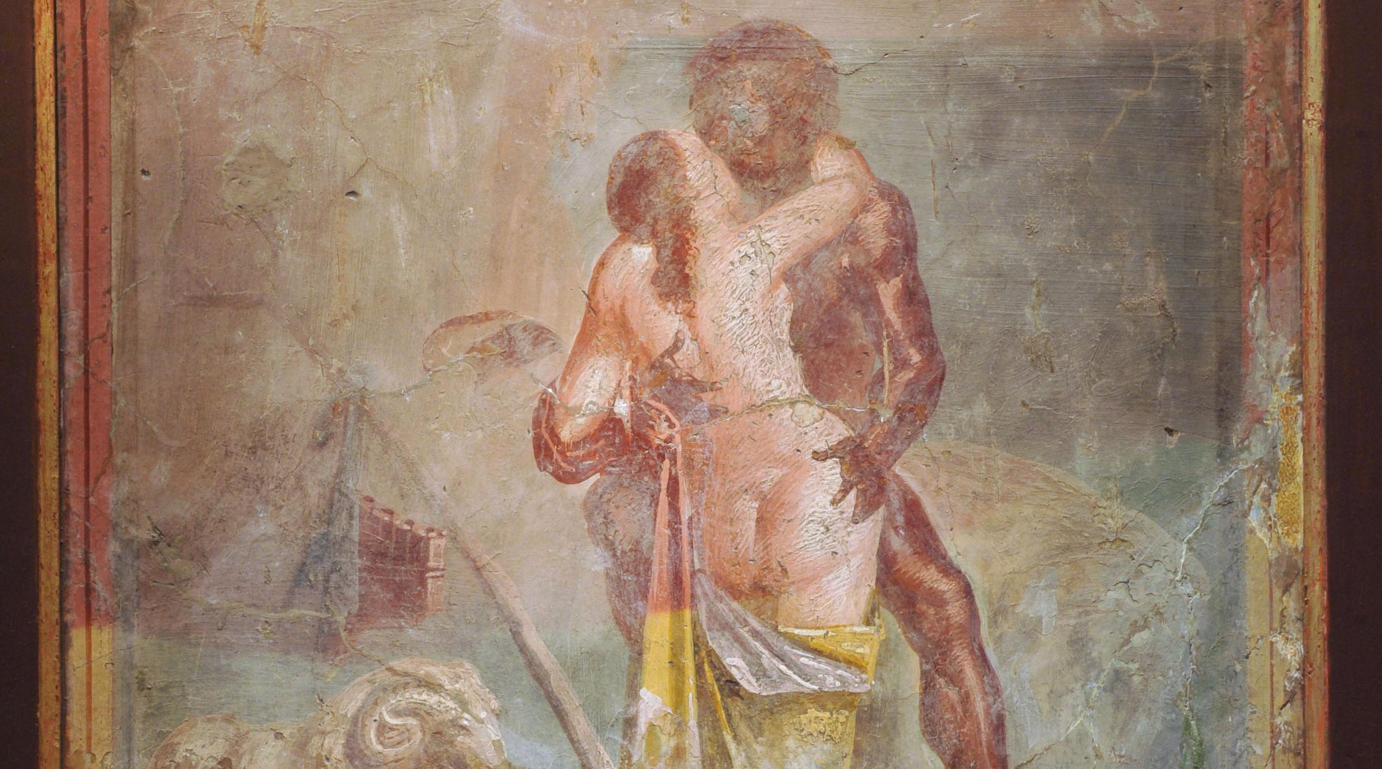 polifemo e galatea,casa dei capitelli colorati (2)