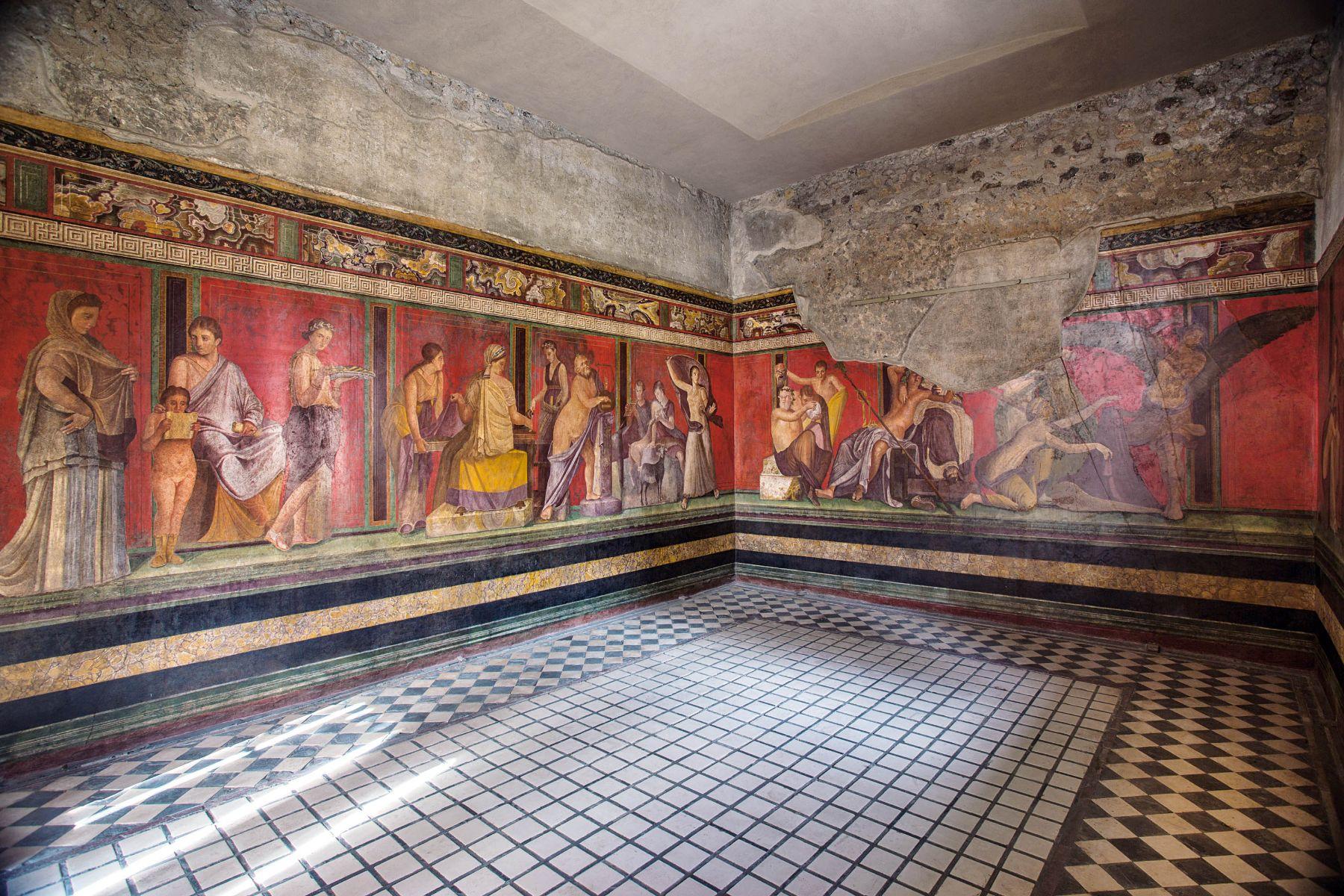Triclinio Villa dei Misteri foto Pier Paolo Metelli - II Stile