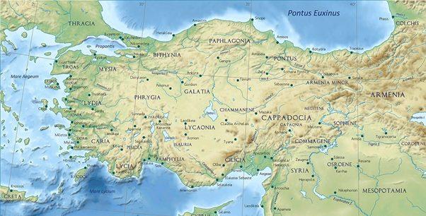 geografia clima ittita